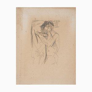 Lithographie Couple cubiste d'après Pablo Picasso, 1970
