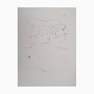 Lithographie Vintage Sleeping Woman d'après Pablo Picasso