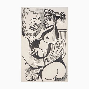 Erotic Scene Lithograph after Pablo Picasso, 1970