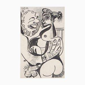 Erotische Lithographie nach Pablo Picasso, 1970