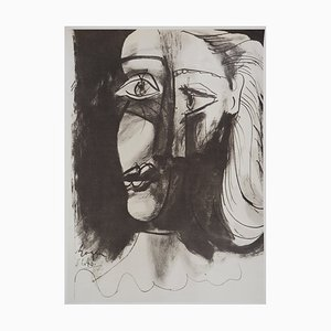 Vintage Tribute to Christian and Yvonne Zervos Lithograph after Pablo Picasso