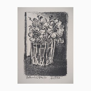 Flowers in a Vase Lithograph by Pablo Picasso, 1950