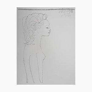 Lithographie Portrait de Femme d'après Pablo Picasso