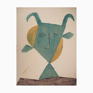 Litografía Faun sonriente de Pablo Picasso, 1960
