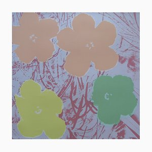 Poppy Flowers Silkscreen after Andy Warhol