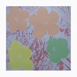 Serigrafía vintage con flores de amapola de Andy Warhol