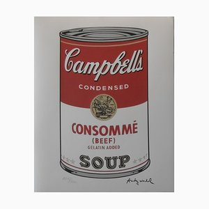 Vintage Campbell's Soup Green Pea Lithograph after Andy Warhol