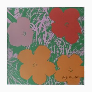 Green Poppy Flowers Lithograph after Andy Warhol