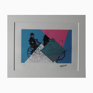 DAIMLER 1886 Lithographie nach Andy Warhol