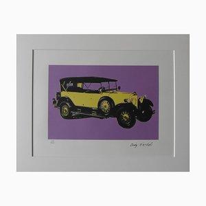 Litografía Mercedes Benz Type 400 Purple vintage de Andy Warhol