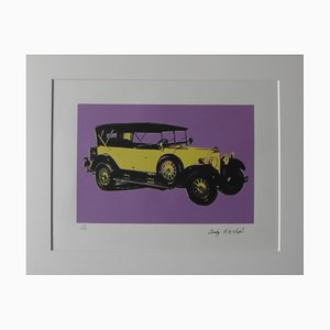 Mercedes Benz Type 400 Purple Lithograph after Andy Warhol