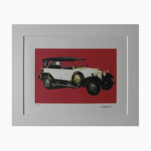 Vintage Mercedes Benz Type 400 Red Lithographie nach Andy Warhol