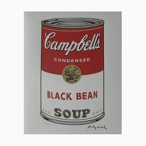 Campbell Soup Black Bean Lithograph after Andy Warhol
