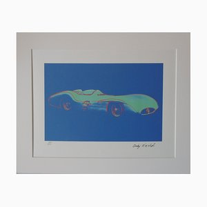 Mercedes F1 Stromline W196R Lithograph after Andy Warhol