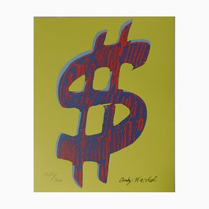 Us Dollar Jaune Lithograph after Andy Warhol