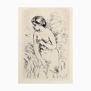 Debout Swimmer Drypoint d'après Auguste Renoir, 1910