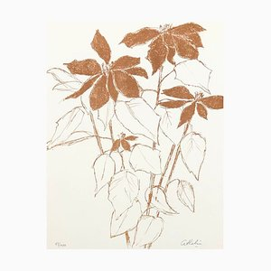 Brown Composition Lithographie von Bernard Cathelin, 1988