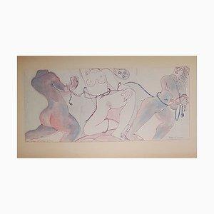 Dessins The Slaves par Henry de Waroquier, 1938