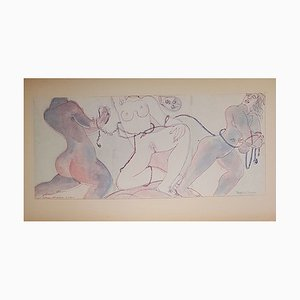 The Slaves Drawings by Henry de Waroquier, 1938