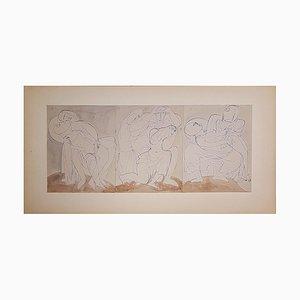 Disegno della morte di Cristo di Henry de Waroquier, 1936