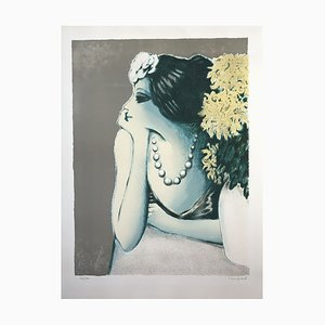 The Chrysanthemums Lithograph by Jean-Pierre Cassigneul, 1973