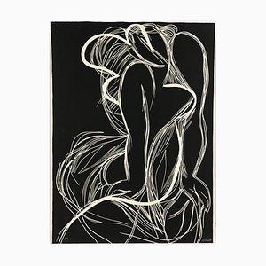 Marilyn Linogravure di Alain Clément, 1987