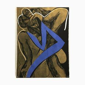 Ava Linocut by Alain Clément, 1987