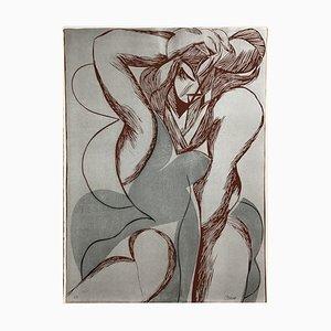 Linograbado Rita de Alain Clément, 1987