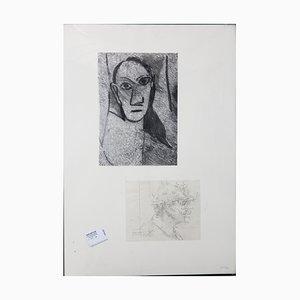 The Demoiselles d'Avignon Drawing by Jean le Gac, 2008