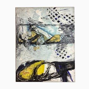 White Plot Mixed Media on Canvas de Quim Corominas, 1992