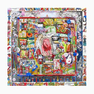 Vintage Candy Box Sculptural Painting by David Cintract