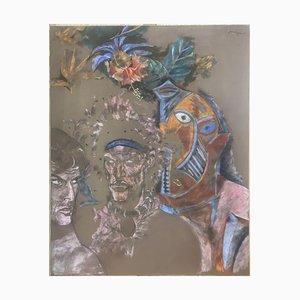 Medios mixtos sin título sobre tela de Jean le Gac, 2008