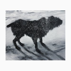Oleo sobre lienzo Chewby de Patrice Palacio, 2018