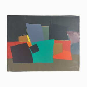 Untitled 186 Acrylic on Canvas by Jean Rouzaud, 1985
