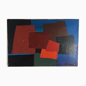 Untitled Acrylic on Canvas by Jean Rouzaud, 1988