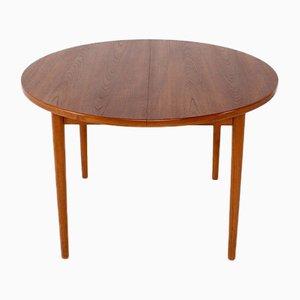 Table de Salle à Manger Ronde Extensible par Nils Jonsson pour Hugo Troeds, 1960s