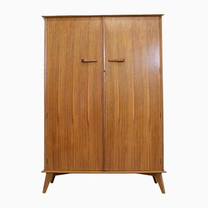 Mid-Century Teak and Walnut Wardrobe from Crown AC, 1960s