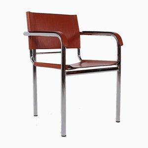 Chaises de Salon en Cuir Cognac, Italie, 1970s, Set de 4