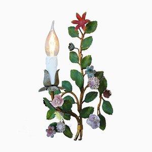 Italian Tôle Floral Sconces, 1920s, Set of 2
