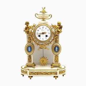 19th Century Napoleon III Gilt Bronze and Marble Pendulum Clock