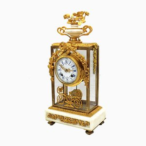 19th Century Napoleon III Gilt Bronze and Marble Pendulum Clock