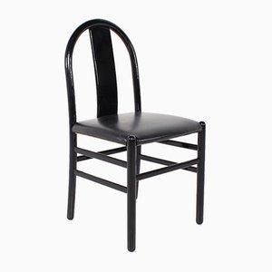Chaises d'Appoint Laquées Noires, 1970s, Set de 4