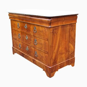 19th Century Charles X Inlaid Walnut Chest of Drawers