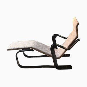 Chaise longue de madera contrachapada curvada de Marcel Breuer para Isokon, UK, años 70