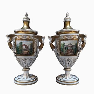Antique German Porcelain Vases