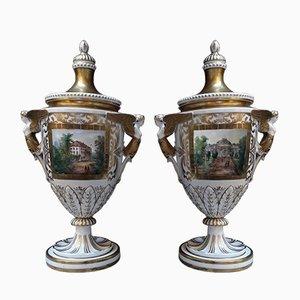 Antique German Porcelain Vases
