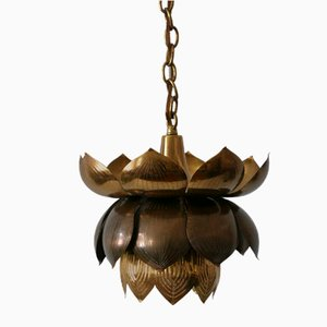 Mid-Century Modern Brass Lotus Pendant Lamp from Feldman Lighting Co, 1960s