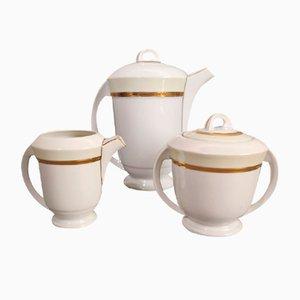 Art Deco Porcelain Tea Set from Limoges, 1930s, Set of 15