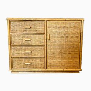 Aparador vintage de bambú, años 70
