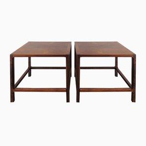 Tables Basses Scandinaves en Palissandre de Aksel Kjersgaard, 1950s, Set de 2